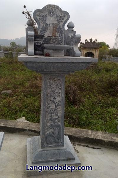 Cây hương trang thờ đá LMD 12