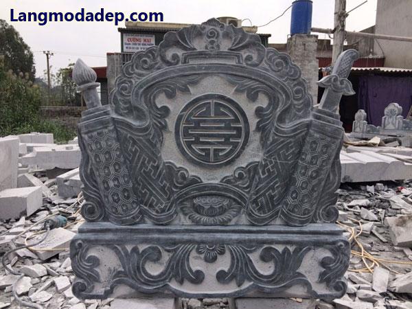 Cuốn thư đá bình phong đá LMD 14