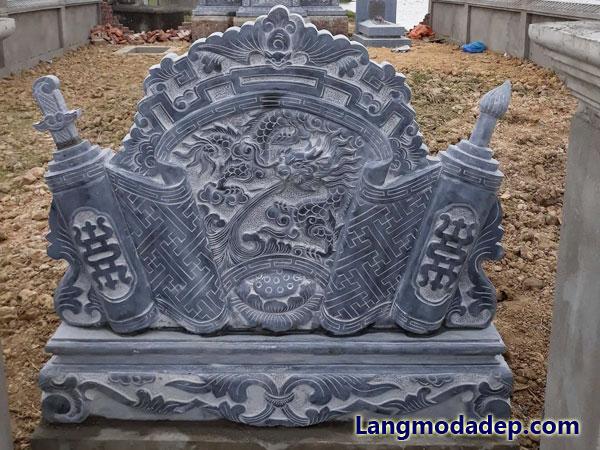 Cuốn thư đá bình phong đá LMD 17