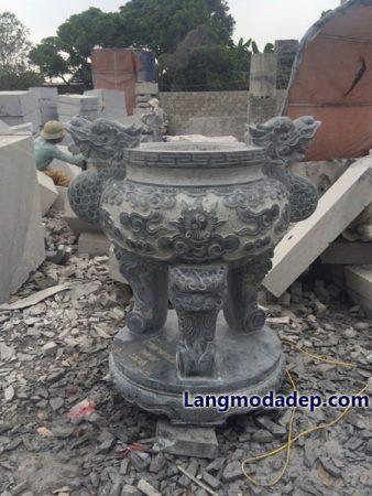 Lư hương đá đỉnh hương đá LMD 11