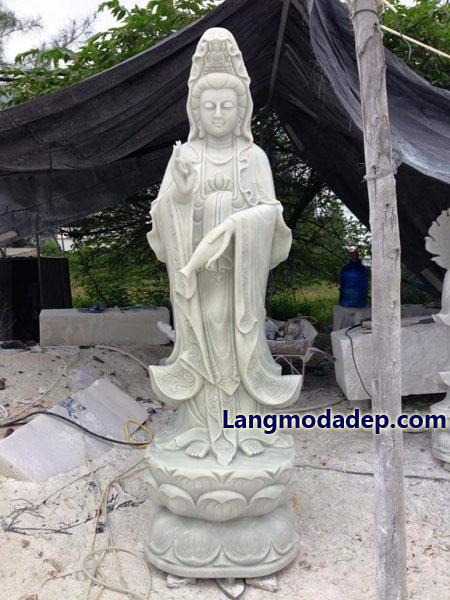 Tượng Phật Quan Âm đá LMD 08