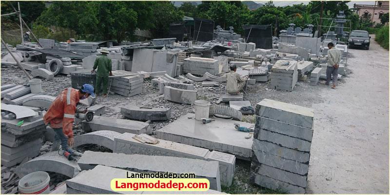 Lăng mộ đá đẹp 01 - Bãi chế tác đá, xưởng sản xuất